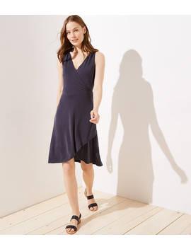 Petite Sleeveless Wrap Dress by Loft