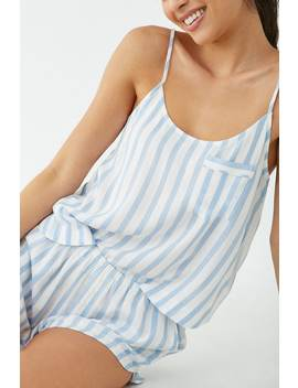 Striped Cami & Shorts Pajama Set by Forever 21