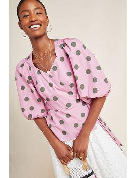 Ida Puff Sleeved Wrap Top by Kristinit