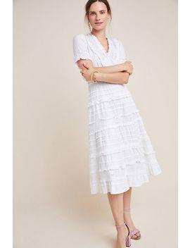 Eugenie Ruffled Lace Midi Dress by Love Sam