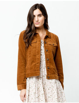 Sky And Sparrow Corduroy Camel Womens Jacket by Sky And Sparrow
