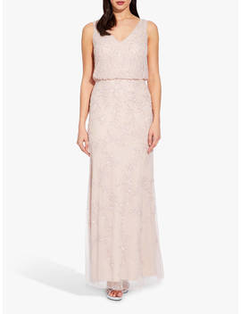 Adrianna Papell Blouson Beaded Dress, Shell by Adrianna Papell