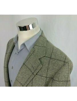 Chaps Ralph Lauren Mens 42 S Beige Gray Plaid 2 Button Blazer Sport Coat All Wool by Chaps Ralph Lauren