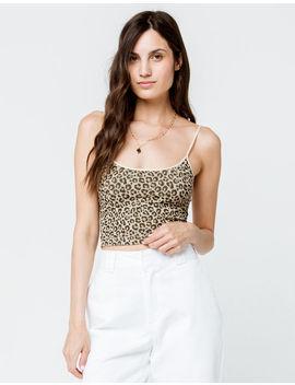 Full Tilt Cheetah Womens Crop Cami by Full Tilt