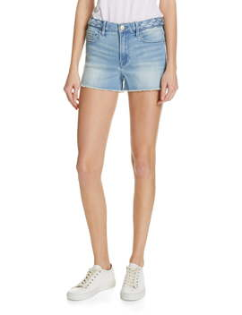 Le Cutoff Braid Waist Denim Shorts by Frame