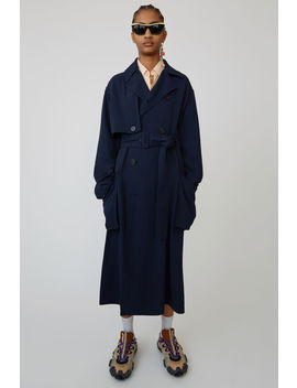 Long Trench Coat Midnight Blue by Acne Studios