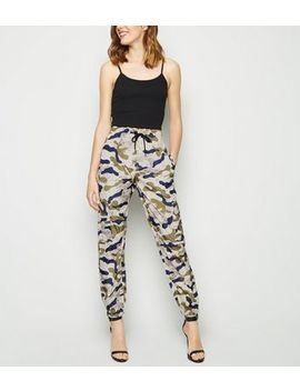 Cameo Rose White Camo Utility Trousers by New Look