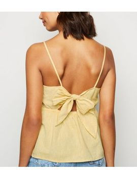 Yellow Linen Blend Tie Back Cami by New Look