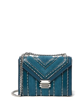 Whitney Studded & Reptile Embossed Leather Shoulder Bag by Michael Michael Kors