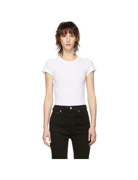 White Originals Slim T Shirt Bodysuit by Re/Done