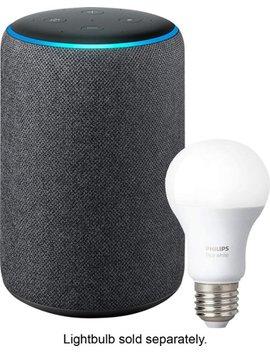 Echo Plus (2nd Gen) Smart Speaker With Alexa   Charcoal by Amazon