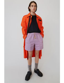 Elastic Waist Shorts Lilac Purple by Acne Studios