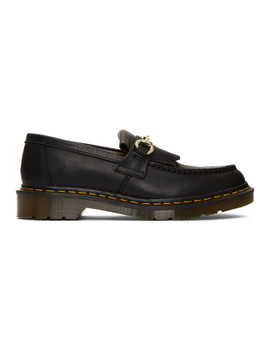 Black United Arrows Edition Snaffle Loafers by Dr. Martens