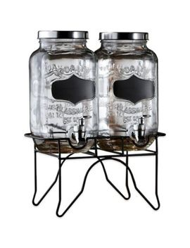 Blackboard Glass Beverage Dispenser With Metal Stand by Bed Bath And Beyond