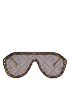 Ff Logo Aviator Sunglasses by Fendi