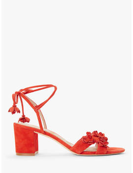 Boden Flora Strappy Block Heel Sandals, Red Pop by Boden