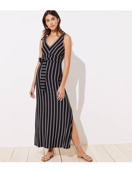 Loft Beach Striped Tie Waist Maxi Dress by Loft