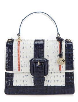 Marina Simone Collection Mini Francine Top Handle Colorblock Satchel by Brahmin