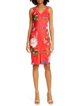 Berry Sundae Floral Sheath Dress by Ted Baker London