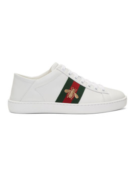 Baskets En Cuir Blanches Ace by Gucci