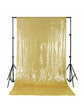 B Cool 4ftx8ft Sequin Backdrop Gold Photography Backdrop Wedding Shimmer Fabric Backdrops Curtain Backdrops Photography Background Sequin Fabric Backdrop by B Cool