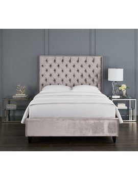Newberry Crystal Upholstered Platform Bed by Rosdorf Park