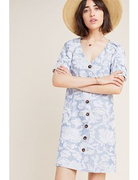 Vanessa Embroidered Button Front Dress by Waverly Grey