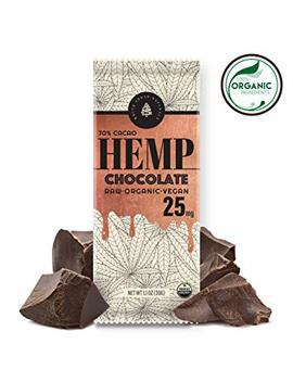 Organic Raw Hemp Extract Chocolate  25 Mg   Helps Relieve Pain, Stress & Anxiety   70 Percents Raw Cacao, Made With Full Spectrum Usa Grown Hemp Oil Extract, High In Omega 3 6 9,... by White Cedar Superfoods