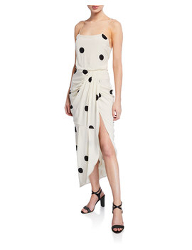 Dotted Cami Dress With Sarong Skirt by Derek Lam 10 Crosby