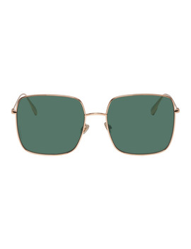 Rose Gold & Green Dior Stellaire1 Sunglasses by Dior