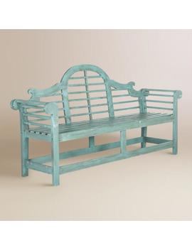 Sea Blue Wood Nerano Outdoor Bench by World Market