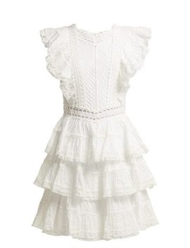 Juniper Tiered Pintucked Cotton Dress by Zimmermann