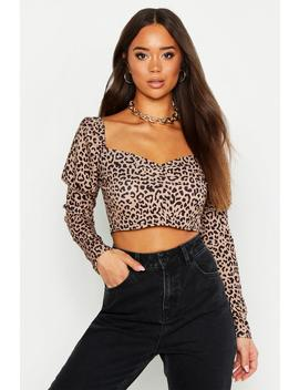 Leopard Print Gypsy Style Top by Boohoo