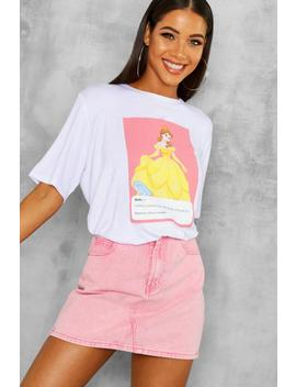 Disney Belle Meme T Shirt by Boohoo