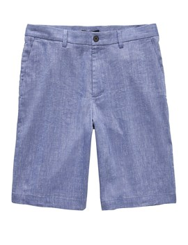 "11"" Linen Blend Short by Banana Repbulic"