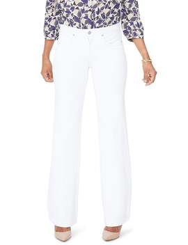 Wide Leg White Jeans by Nydj