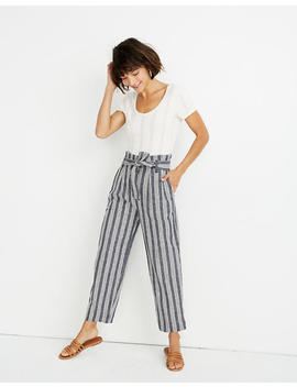 Paperbag Pants In Deep Indigo Stripe by Madewell