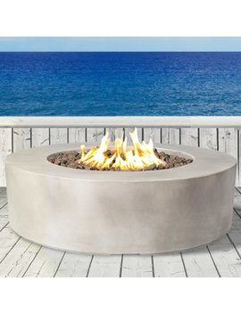 Santiago Concrete Propane/ Natural Gas Fire Pit by Living Source International