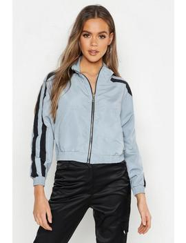Double Stripe Sports Jacket by Boohoo