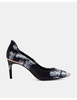 Printed Low Heel Court Shoes by Ted Baker