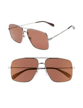 61mm Navigator Sunglasses by Givenchy