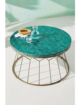 Hourglass Indoor/Outdoor Coffee Table by Anthropologie