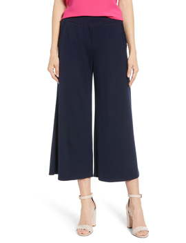 X Living In Yellow Wide Leg Crop Pants by Gibson