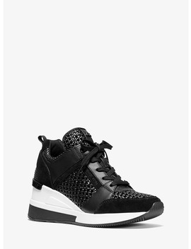 Georgie Woven Leather Trainer by Michael Michael Kors