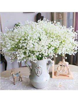 Jin Hot Fashion 10 Pcs White Gypsophila Artificial Fake Beautiful Flower Home Party Wedding Decor Flowers (White) by Jin Hot