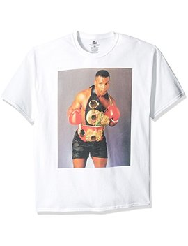 Boxing Hall Of Fame Men's Mike Tyson With Championship Belt T Shirt by Boxing Hall Of Fame