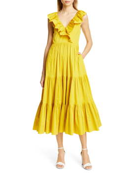 Tiered Poplin Dress by Kate Spade New York