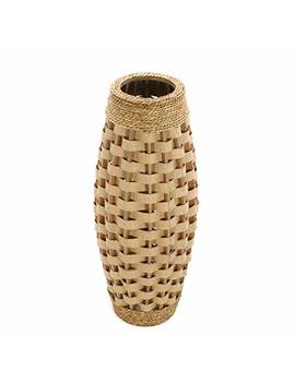 """Hosley's 24"""" High Wood And Grass Floor Vase. Ideal Gift For Weddings, Home Decor, Long Dried Floral, Spa, Aromatherapy, Umbrella / Cane Stand O6 by Hosley"""