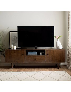Mfr Furniture Mid Century Modern Tv Stand Provides Retro Style Contemporary Functionality. 72 Inch Entertainment Center Open Shelf, Drawer Two Cupboards. Media Cabinet Console Creates Timeless Feel. by Mfr Furniture