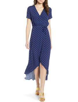 Everyday High/Low Wrap Dress by Leith